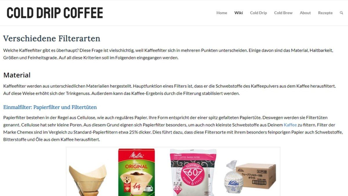 Screenshot einer Website als Arbeitsprobe: Erstellen eines Wiki bzw. einer Datenbank von Texter Monika Weber in Augsburg