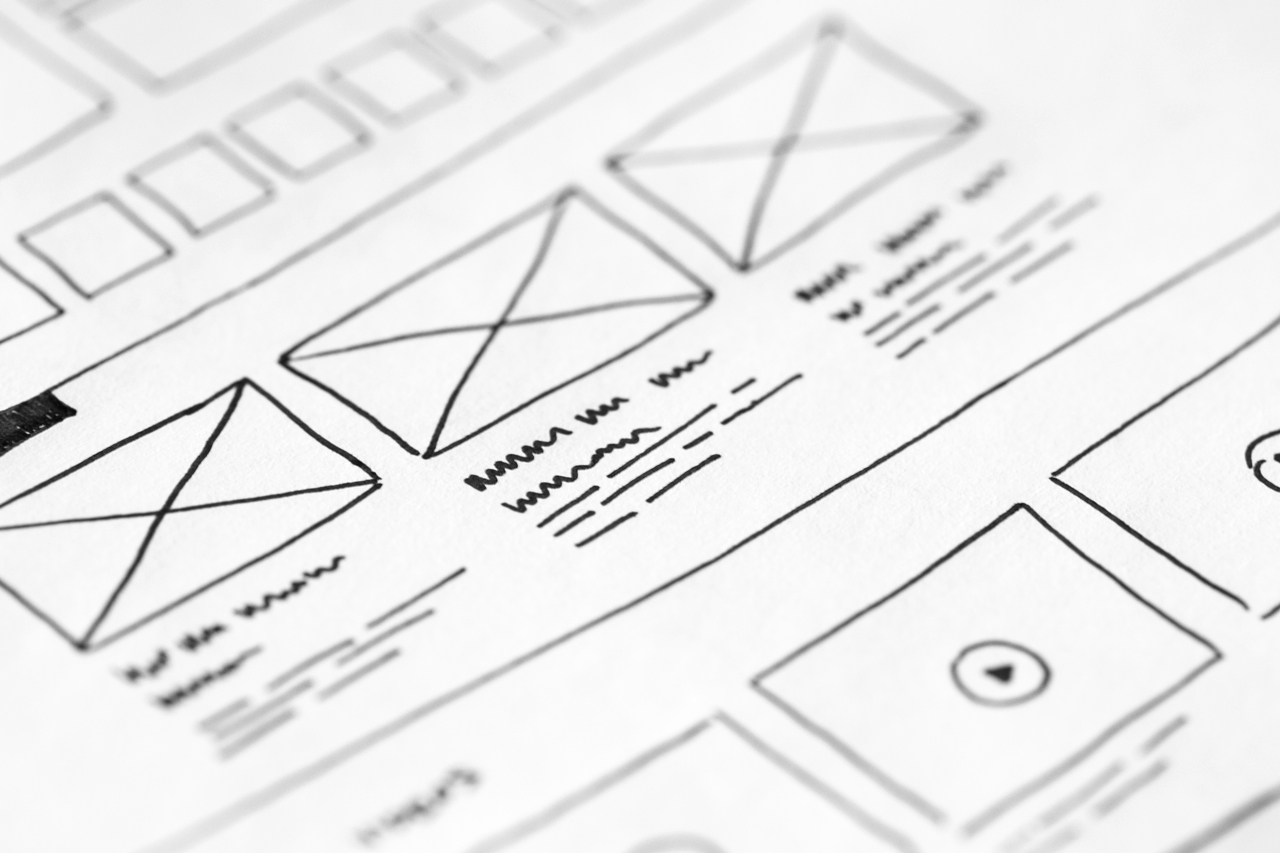 Example for a wireframe which (German) UX writers use frequently.