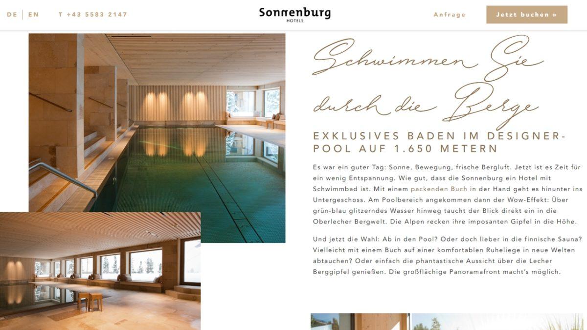 Screenshot einer Website als Arbeitsprobe für das Portfolio von SEO Texter Monika Weber in Augsburg